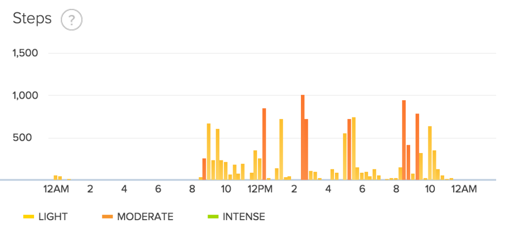 fitbit step data day 17