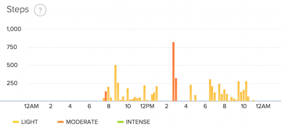 fitbit step data day 29