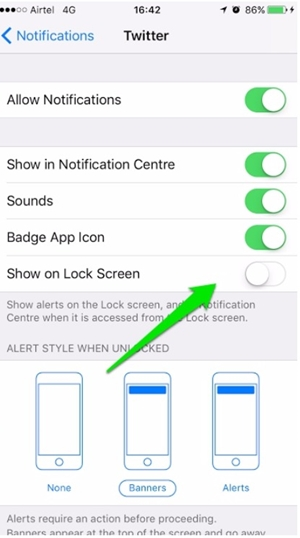 this is how to disallow notifications on your iPhone lock screen